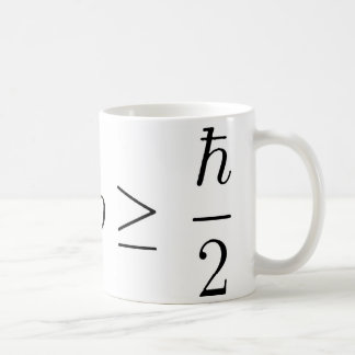 Heisenberg uncertainty principle 2 coffee mug