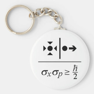 Heisenberg Uncertainty Principle Key Ring