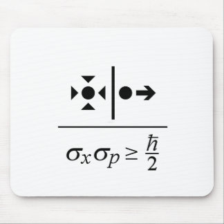 Heisenberg Uncertainty Principle Mouse Pad
