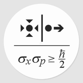 Heisenberg Uncertainty Principle Round Sticker
