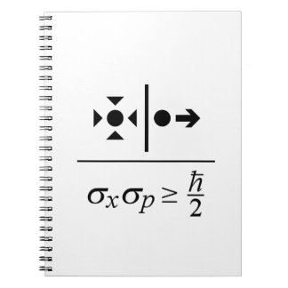 Heisenberg Uncertainty Principle Spiral Notebook