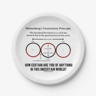 Heisenberg's Uncertainty Principle Physics Humor Paper Plate