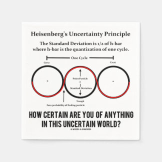 Heisenberg's Uncertainty Principle Physics Humor Paper Serviettes