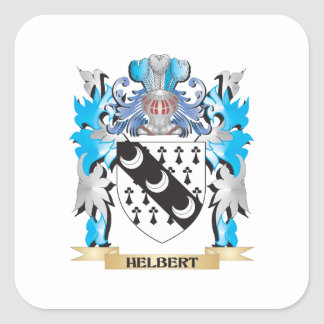 Helbert Coat of Arms - Family Crest Square Sticker