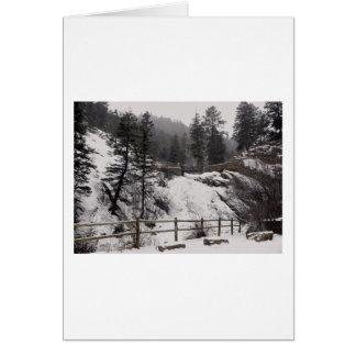 Helen Hunt Falls in Winter Card