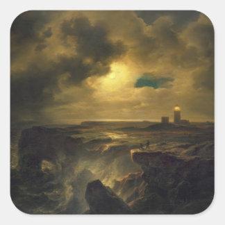 Helgoland in Moonlight, 1851 Square Sticker