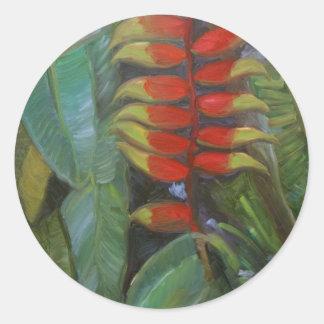 Heliconia Classic Round Sticker