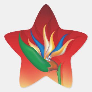 Heliconia Flower Star Sticker