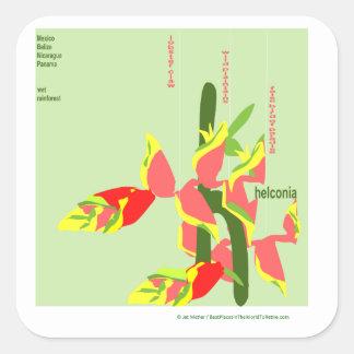 Heliconia Square Sticker