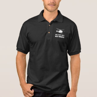 Helicopter Pilot Runways Polo Shirt