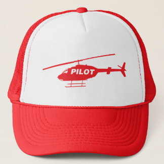Helicopter pilot trucker hat
