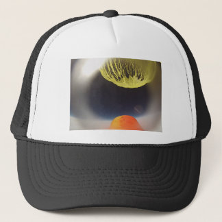 Helium balloon popping on the edge of space trucker hat