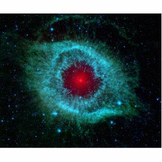 Helix Nebula Infrared Spitzer Standing Photo Sculpture