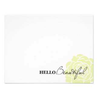 HELLO BEAUTIFUL IN GREEN | NOTE CARDS INVITE