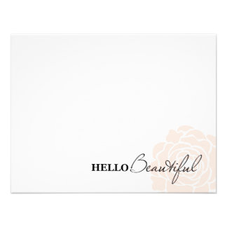 HELLO BEAUTIFUL IN PINK | NOTE CARDS CUSTOM INVITATION