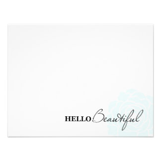 HELLO BEAUTIFUL IN POWDER BLUE | NOTE CARDS PERSONALIZED INVITATION