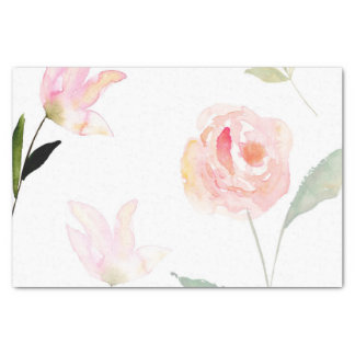 Hello Beautiful Watercolor Floral Tissue Paper