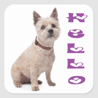 Hello Cairn Terrier Puppy Dog Greeting Stickers