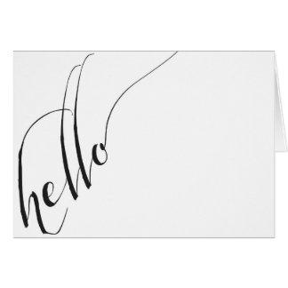 hello Calligraphic Script Greeting Card