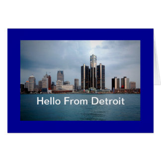 Hello From Detroit Greeting Card