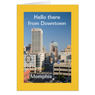 Hello from downtown Memphis Greeting Card