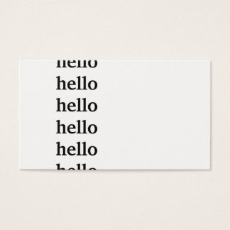 Hello Greeting Business Card