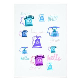 Hello greeting card 11 cm x 16 cm invitation card