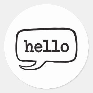 Hello (Hi Hello Greetings) Round Sticker