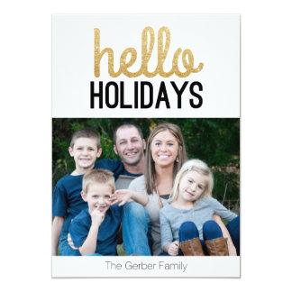 Hello Holidays - Photo Christmas Card