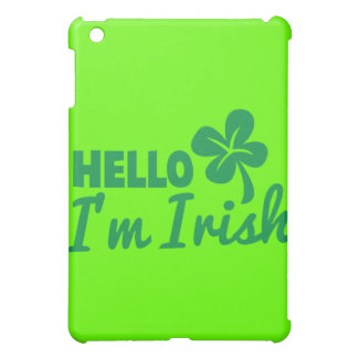 Hello! I'm Irish St Patricks day greeting! iPad Mini Cover