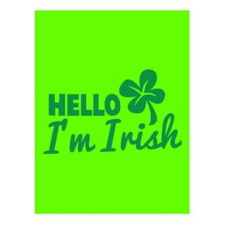 Hello! I'm Irish St Patricks day greeting! Postcards