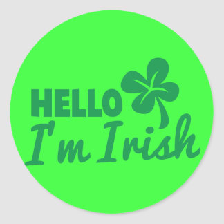 Hello! I'm Irish St Patricks day greeting! Stickers