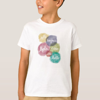 Hello in 6 Languages Children's T-shirt