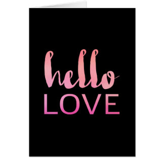 Hello Love 01 Greeting Card