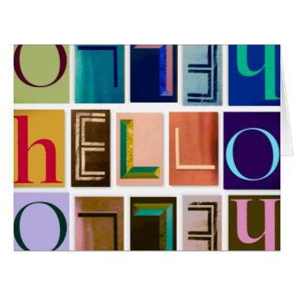 HELLO Magazine Letter Typography Card (Big)