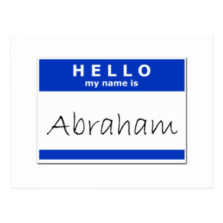 Hello My Name Is Abraham Postcard