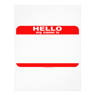 Hello my name is BLANK copy 21.5 Cm X 28 Cm Flyer