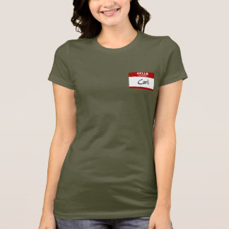 Hello My Name Is Carli (Red) T-Shirt