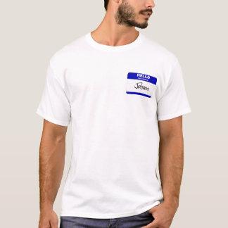 Hello My Name Is Johan (Blue) T-Shirt