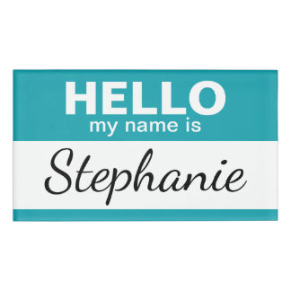 Hello my name is - personalized