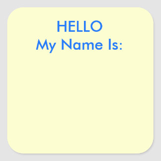 HELLO My Name Is: Stickers