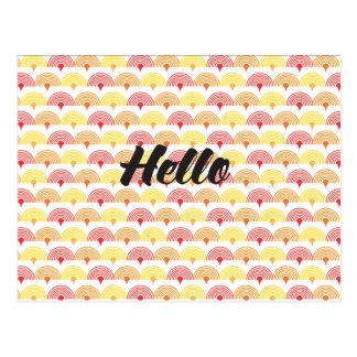 """Hello"" Postcard"
