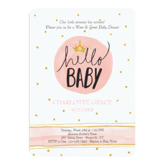 Meet and greet baby shower gifts t shirts art posters other hello princess meet and greet invitation m4hsunfo