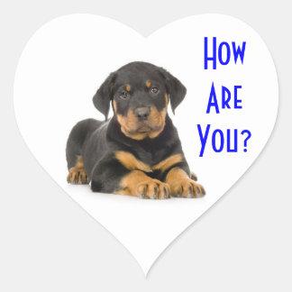 Hello Rottweiler Puppy Dog Greeting Stickers