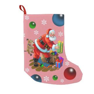 hello Santa Small Christmas Stocking