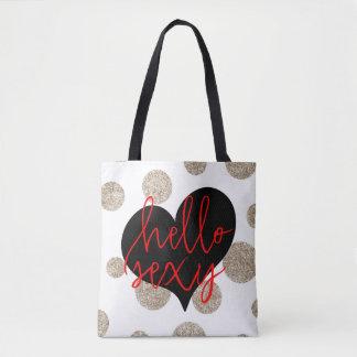 Hello Sexy All Over Tote Bag
