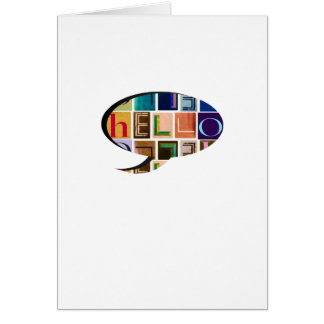 HELLO Speech Bubble Typography Greeting Card