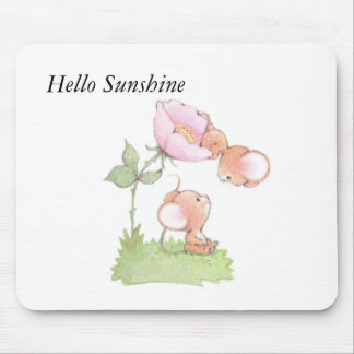 Hello Sunshine Mice with Flower Mouse Pad