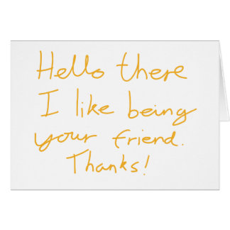 Hello there greetings card