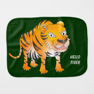 Hello tiger baby burp cloth